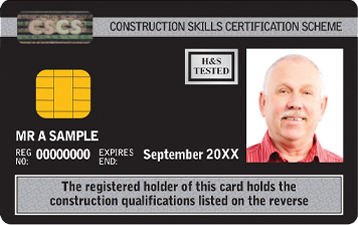 Black Manager CSCS Card